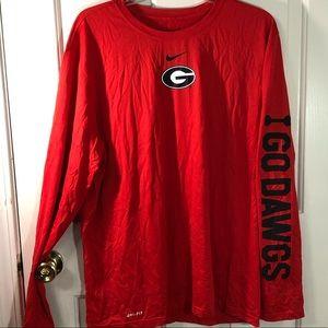 Nike Georgia Bulldogs Long Sleeve Spellout XL